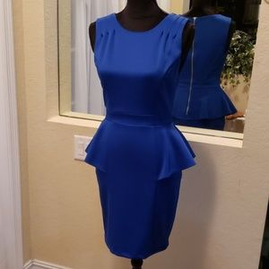 Bisou Bisou couture blue dress. Like new.